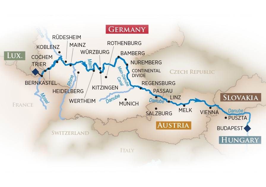 Rivers Of Germany Map.University Educational Travel Tours To China Tours To Europe